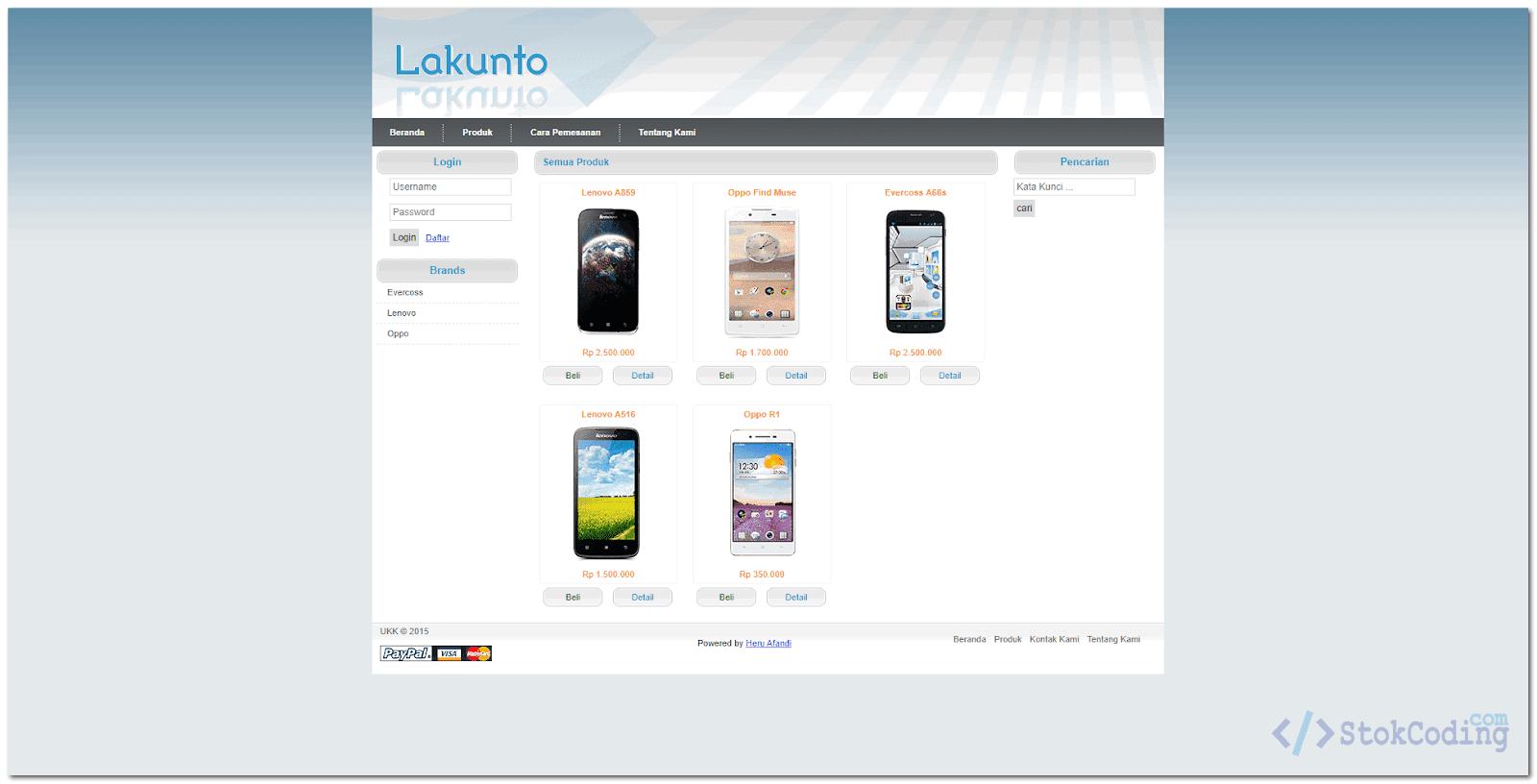 Aplikasi Toko Handphone Berbasis Web (PHP)