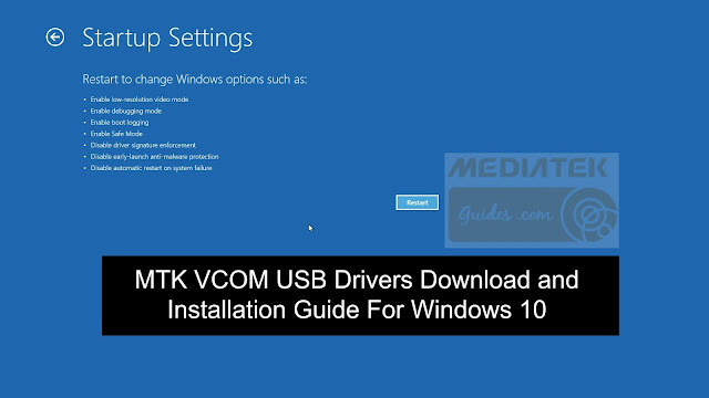 [Win10] MTK VCOM USB Drivers For 32 and 64Bit Download