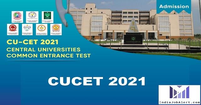 NTA CUCET 2021 Online Form