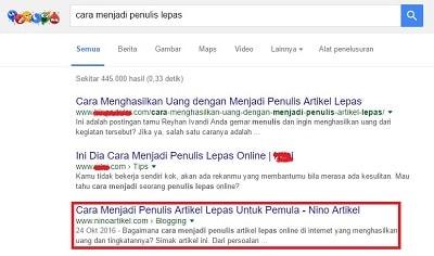 Cara Mengetahui Posisi Ranking Artikel di Google