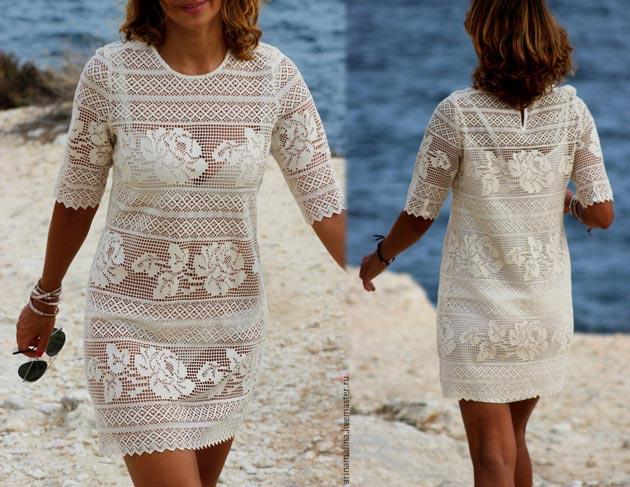 wzory sukienek filetem