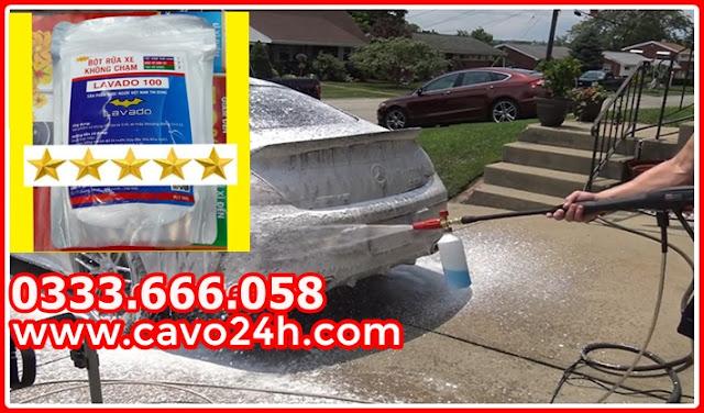 Bột rửa xe không chạm Lavado