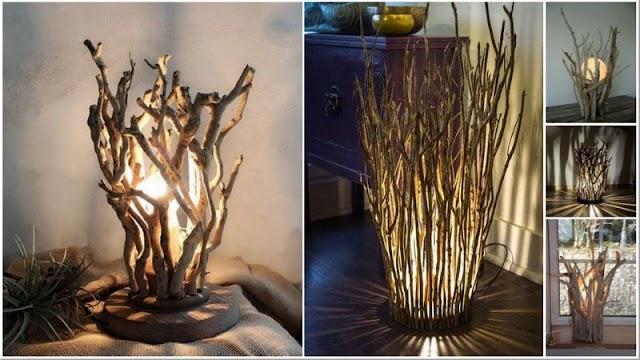 DIY Φωτιστικά από φυσικά Κλαδιά