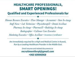 High-end Medical Centre in Kuwait needs Staff Nurse, Lab Technician