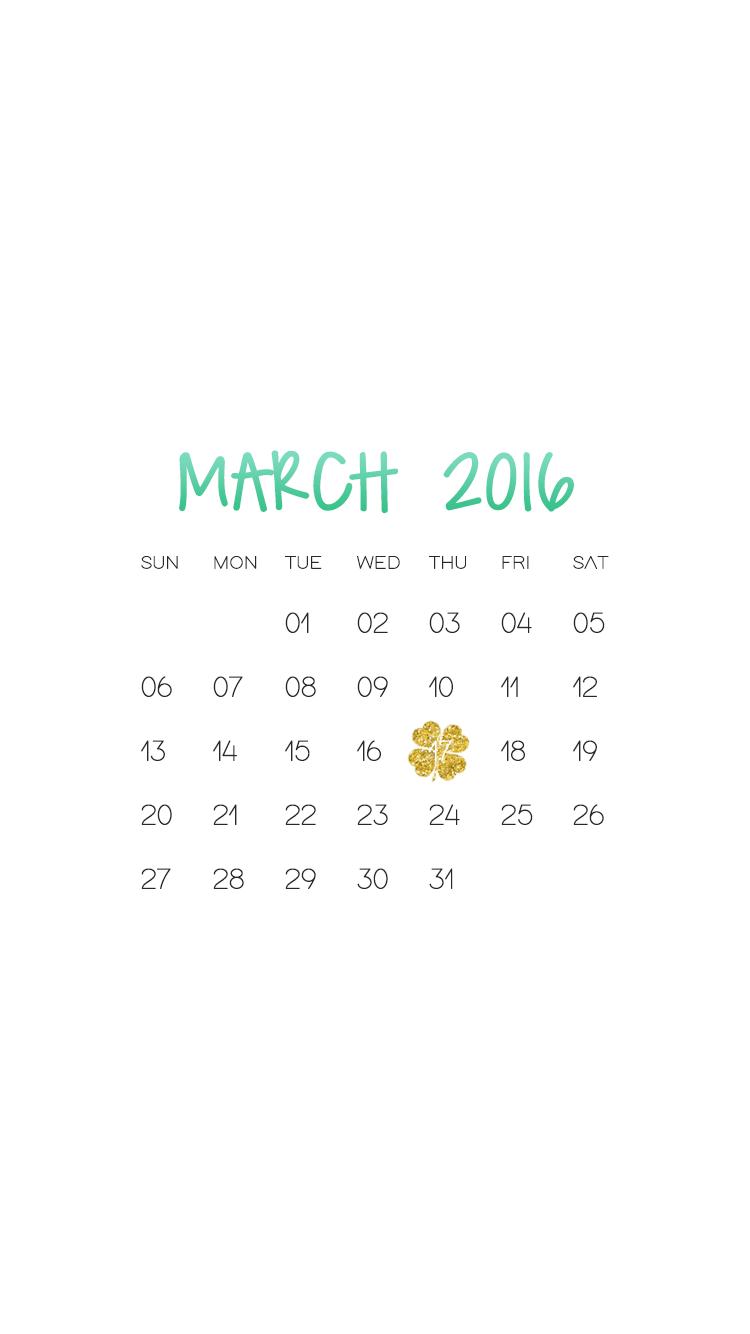 Calendar Wallpaper Phone : Be linspired march