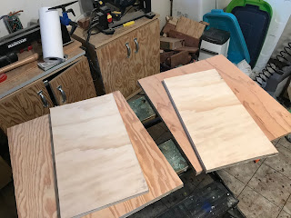 Two 18X10 and two 18X20 pieces of plywood