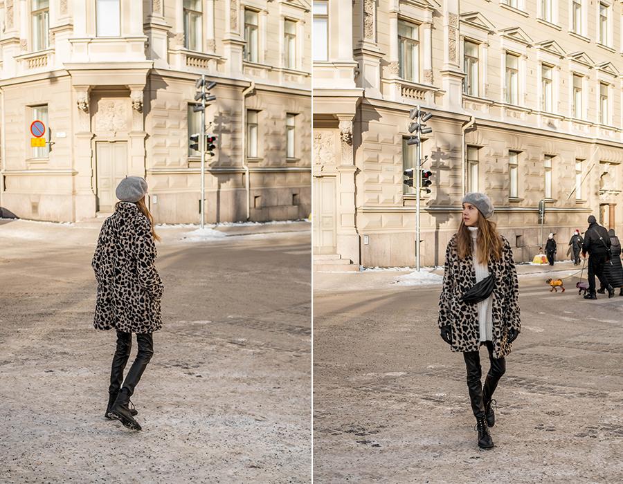 Kuinka yhdistää leoparditakki talvella // How to wear a leopard coat in winter