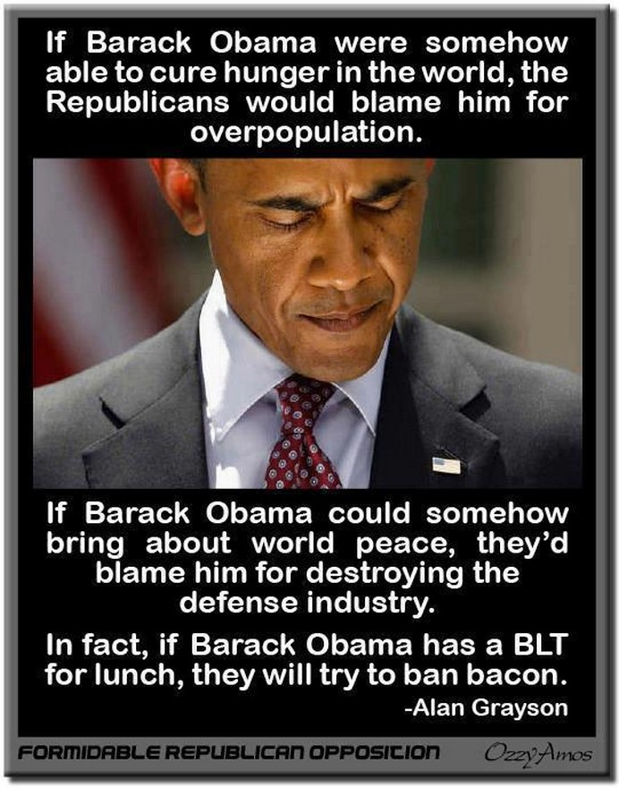 Acerbic Politics: Republicans hate Obama