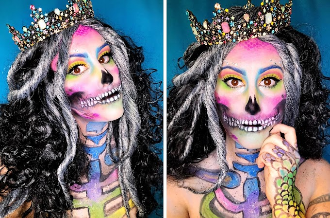 Mermaid Skull Halloween Makeup