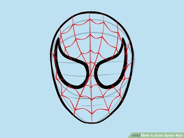 spiderman spider logo outline for pumpkin carving