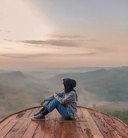berburu spot foto di Bukit Panguk Kediwung jogja