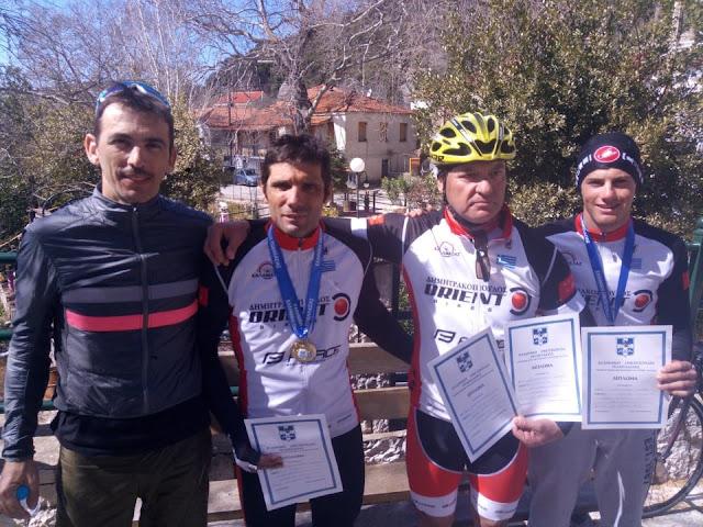 Επιτυχίες του Ποδηλατικού Ομίλου Καλαμάτας στο Τοπικό Πρωτάθλημα Δρόμου στην Πάτρα