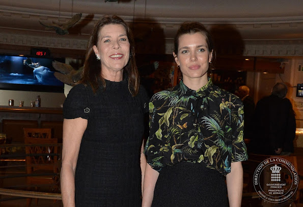 Princess Caroline of Hanover and Charlotte Casiraghi attended first award ceremony of the international symposium The Philosophical Encounters of Monaco - Les Rencontres Philosophiques de Monaco