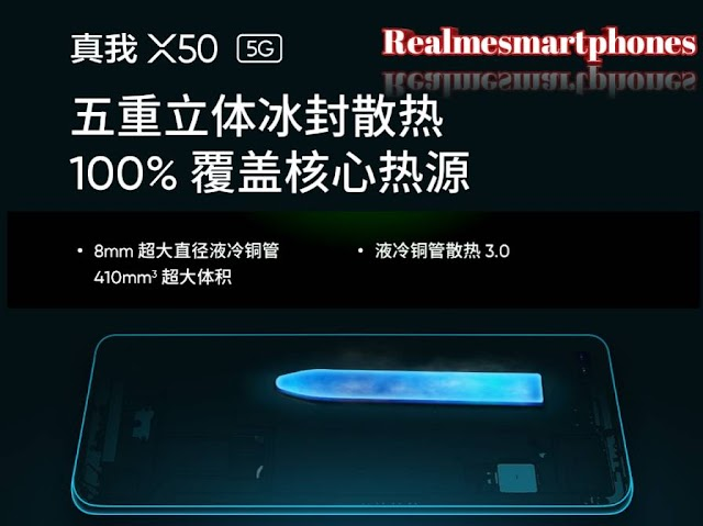 Realme X50 teased 5G heat sources and includes 5D ice-cooled heat dissolution system.