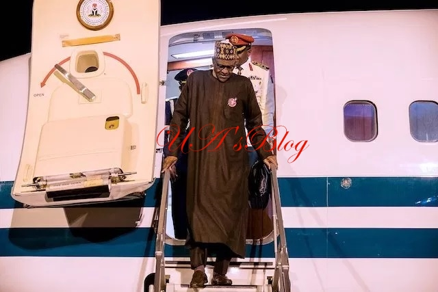 President Buhari Returns Home From Poland(Photos)