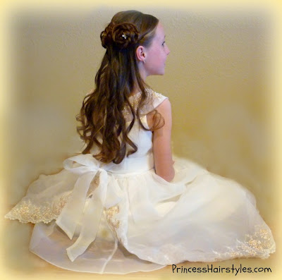 flower girl dresses and hair