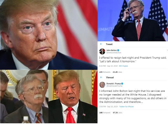 Donald Trump, John Bolton,National Security Advisor,John R. Bolton,fired , Top News,