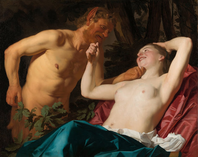 Gerard van Honthorst: Ninfa con satiro
