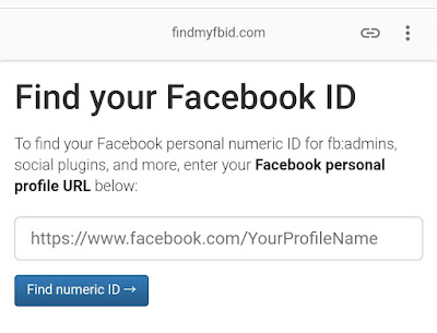 Cara Melihat ID Facebook dengan Mengunakan ProfileName