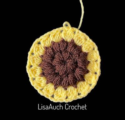 Free Easy Sunflower Crochet Granny Square