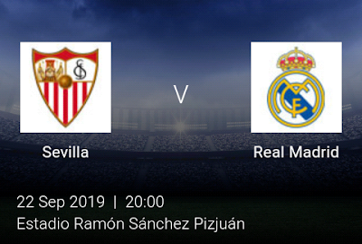 LIVE MATCH: Sevilla Vs Real Madrid Spanish LaLiga 22/09/2019