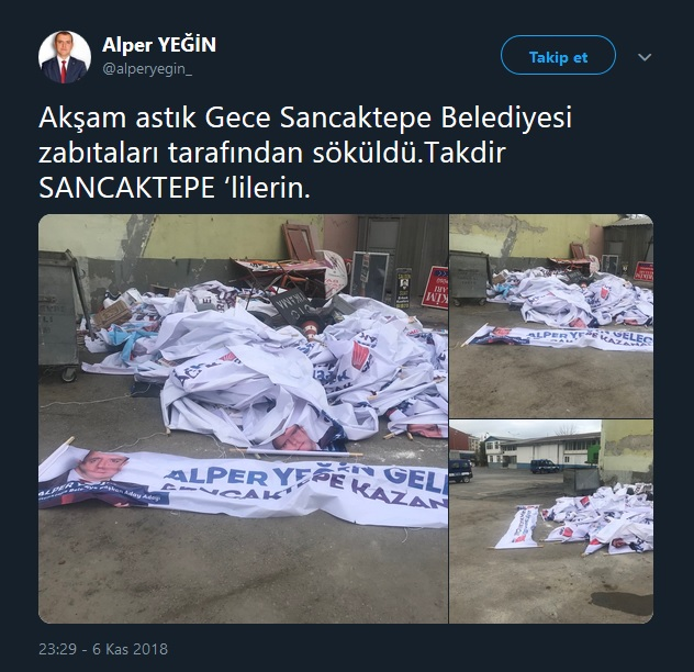 CHP'li aday adayının pankartları akşam asıldı, sabah söküldü2