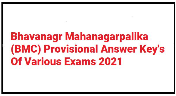 BMC Provisional Answer Key 2021
