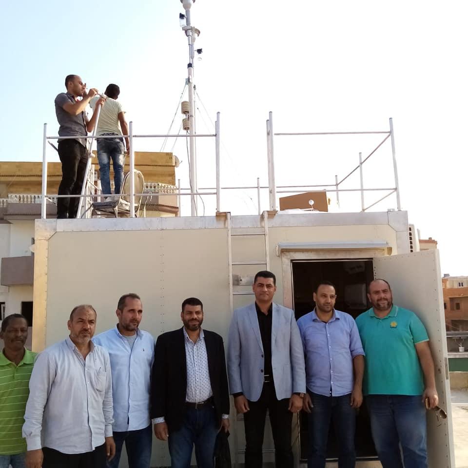 بالصور .. البيئة تنشئ أول محطة رصد لحظية لملوثات الهواء المحيط بمجلس مدينة كوم حماده
