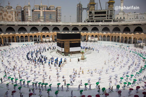 A historical scene from Mecca on Wednesday