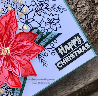 heat embossed words of cheer stampin up christmas card