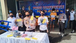 Tiga Pelaku Pembunuhan Ditangkap Resmob Polres Jember