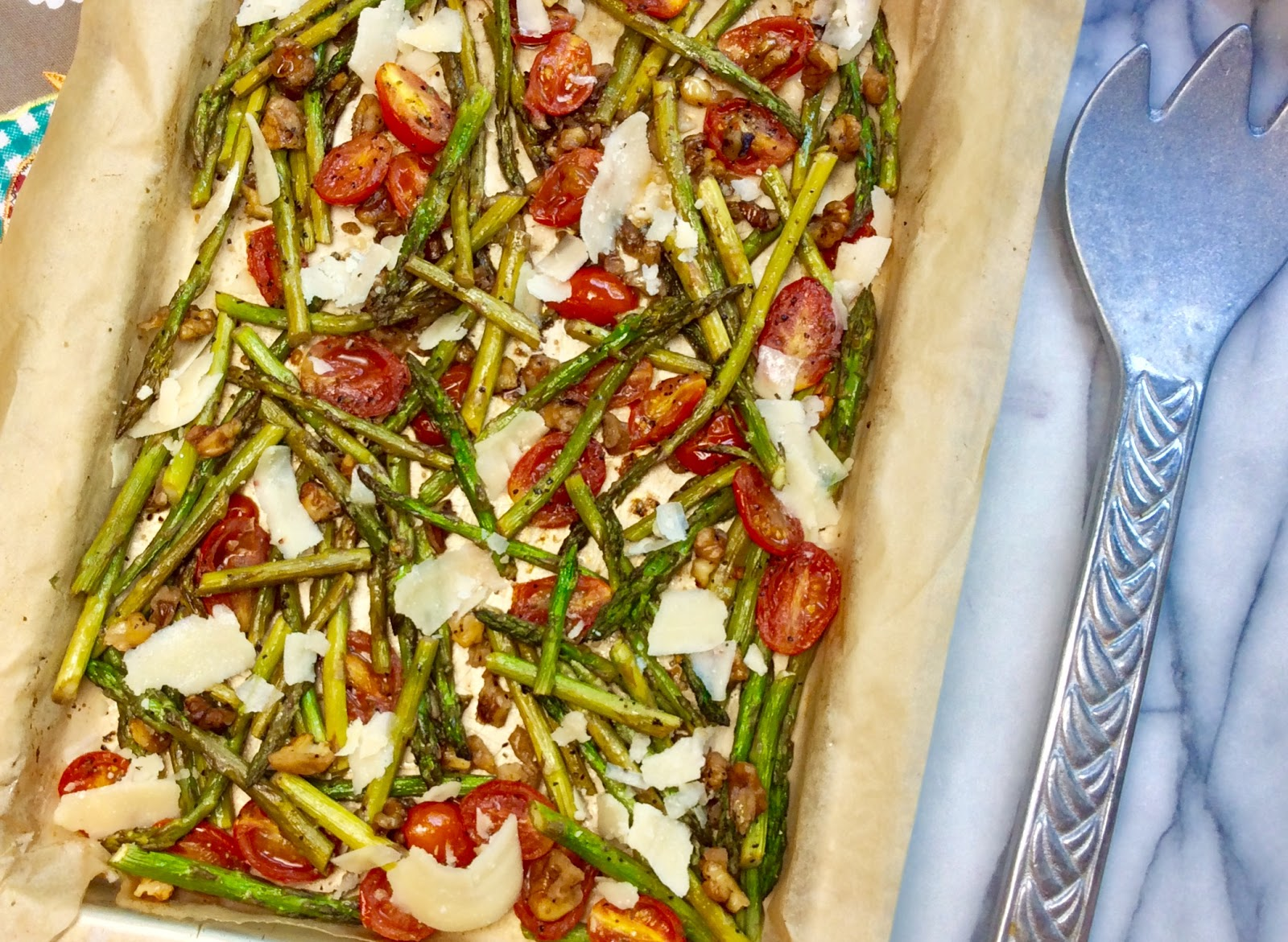 Food Fitness by Paige: Roasted Walnut Parmesan Asparagus