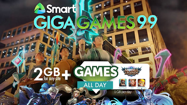 Smart Giga Games 99 : 2GB data + 1GB/day of Mobile Legends