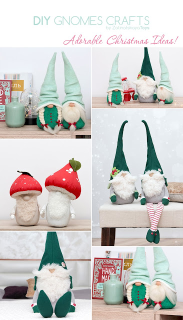 All Christmas gnomes by sewing patterns of Zatinatskaya Natalia