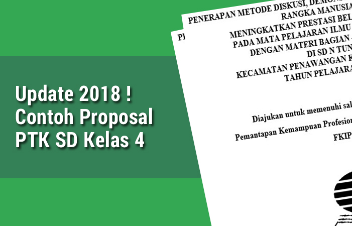 Contoh Proposal PTK SD Kelas 4