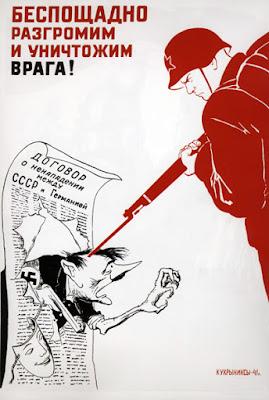 """KOUKRYNIKSY """"Pas de pitié pour l'ennemi!', 1941"""