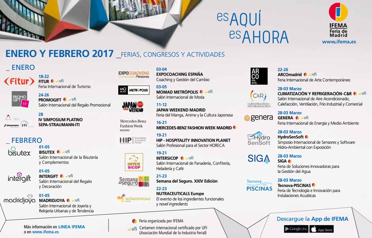 Ferias en ifema para enero y febrero de 2017 ocio por madrid for Feria del mueble madrid 2017