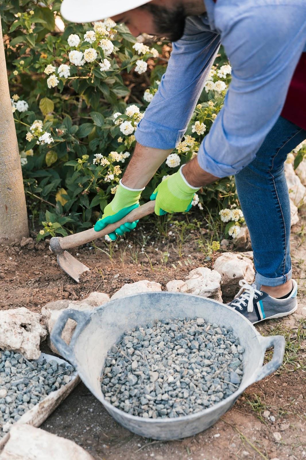 travaux jardin avant vacances