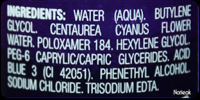composition de la lotion démaquillante aux bleuets