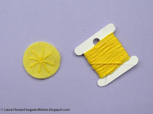 embroider the felt daffodil