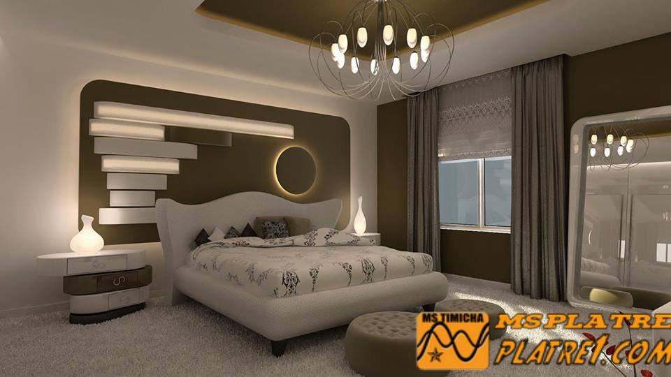 Emejing faux plafond pour chambre a coucher ideas for Decor platre plafond chambre