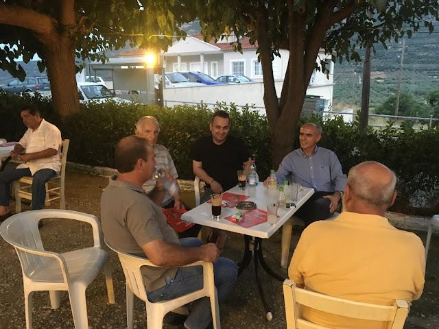 Ο Γιώργος Γαβρήλος συνεχίζει τις επισκέψεις του στα χωριά του Άργους