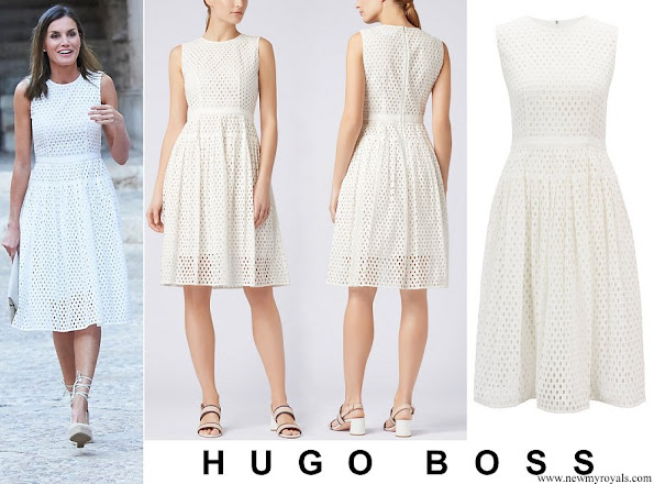 Queen Letizia wore HUGO BOSS Dafalia Dress