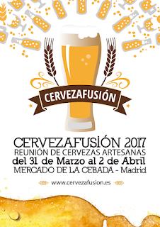 cerveza fusión 2017 mercado de la cebada dorado y en botella