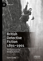 cover of British Detective Fiction 1891-1901 with illustration of Sherlock Holmes and Prof. Moriarty at Reichenbach Falls