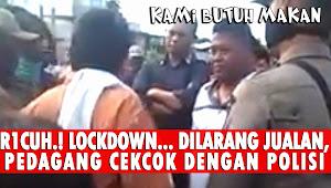 Dilarang Berjualan, Diduga Sekelompok Pedagang di Batam Cekcok Dengan Petugas