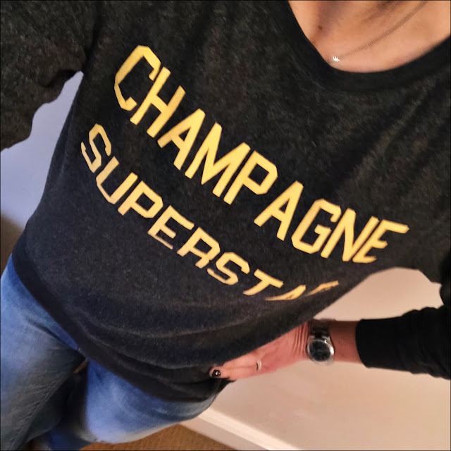 My Midlife fashion, Wildfox Champagne superstar sweatshirt, zara skinny distressed jeans, golden goose super star distress leather calf hair leopard print trainers