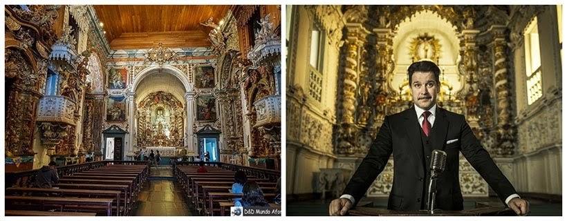 Igreja Imaculada Conceição: Catas Altas e São Miguel da minissérie Se Eu Fechar os Olhos Agora. Foto da cena: Maurício Fidalgo/Divulgação
