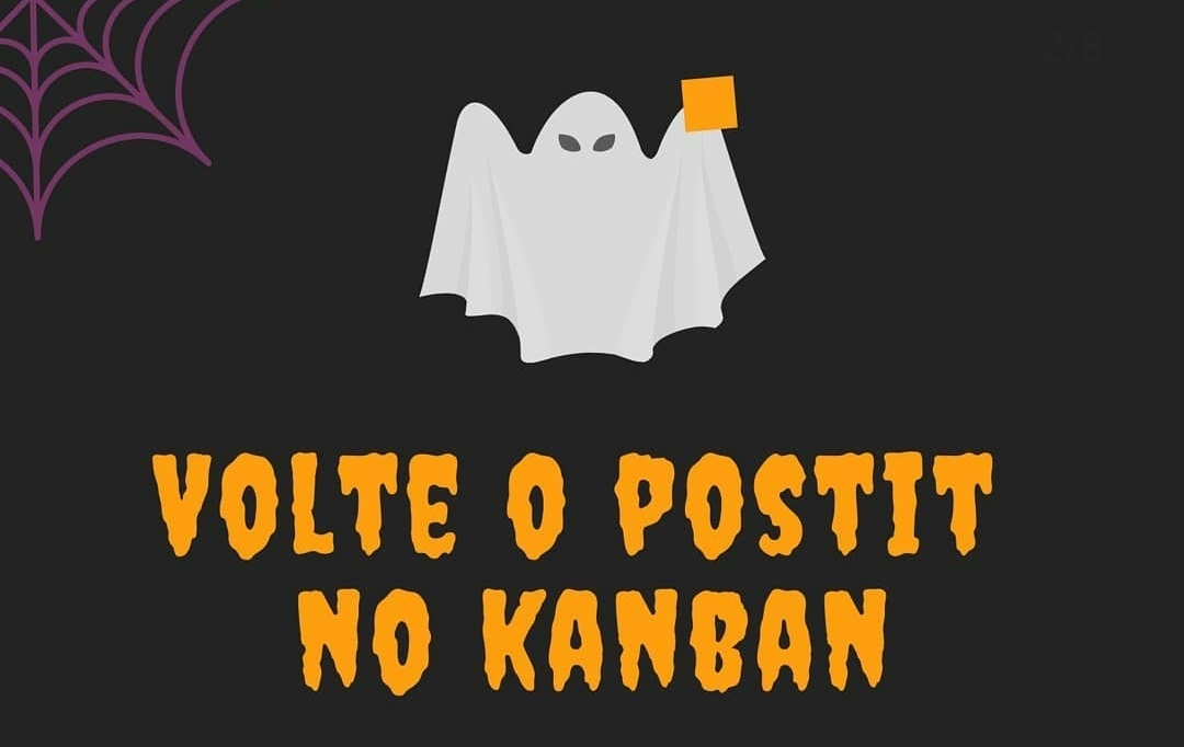 volte o postit no kanban