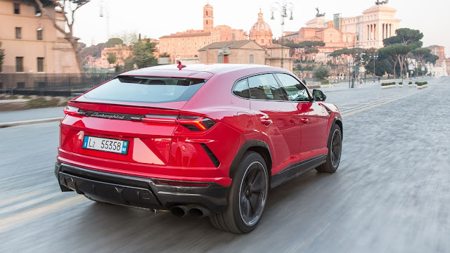 2018 New Lamborghini Urus Super SUV back view